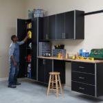 Fast Track Black Garage Cabinets