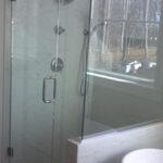 Custom framed shower doors