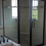Custom framed shower door